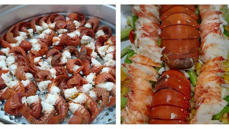 比辦桌澎湃!國小午餐吃整隻「龍蝦」