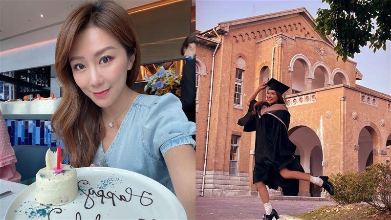 佩甄從台大畢業 穿學士服回春美少女