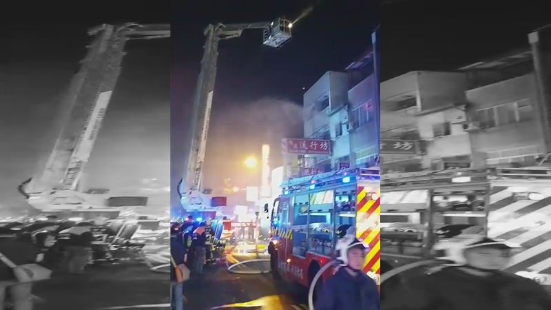 台中大火3童亡 消防員慟:困樓梯間