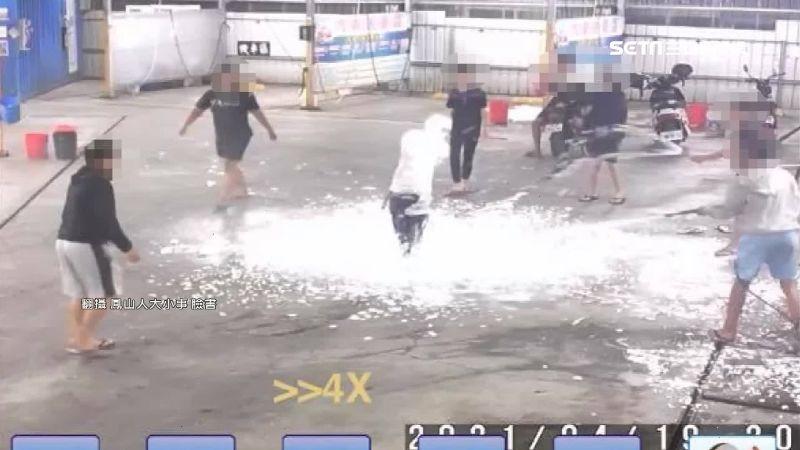 缺水還開泡沫趴!高雄6男大鬧洗車場