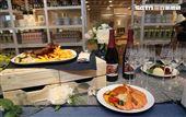 IKEA宜家家居内湖店限定餐點白蝦烤蔬菜麵。(記者邱榮吉/攝影)
