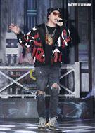 ØZI錄台灣第一檔嘻哈選秀節目「大嘻哈時代」。(記者邱榮吉/攝影)
