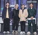 Leo王、剃刀蔣、熊仔、大支四位導師錄台灣第一檔嘻哈選秀節目「大嘻哈時代」。(記者邱榮吉/攝影)