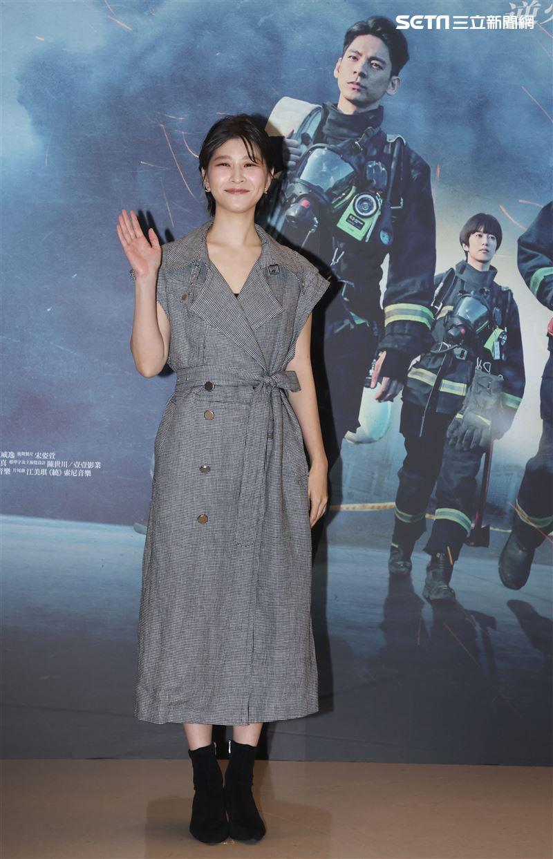 「火神的眼淚」演員江宜蓉。(記者邱榮吉/攝影)