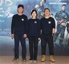 「火神的眼淚」製作人湯昇融、導演蔡銀娟、製作人李志薔。(記者邱榮吉/攝影)