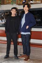 王柏傑、傅孟柏出席台灣首部美食結合警匪動作的影集「美食無間」卡司發佈會。(記者邱榮吉/攝影)