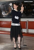 簡嫚書出席台灣首部美食結合警匪動作的影集「美食無間」卡司發佈會。(記者邱榮吉/攝影)