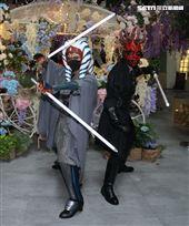 達斯魔、阿索卡出席星戰日。(記者邱榮吉/攝影)