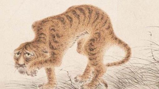 他把老虎畫成病貓還偷放玄機 故宮:收藏起來