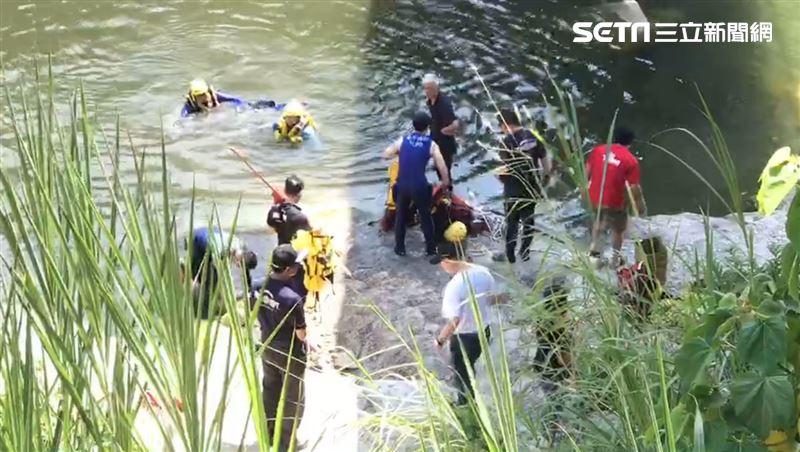 頭汴溪烤肉落水 7歲童27歲男溺斃