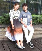 郭婷筠、彭正夫妻三立新聞網專訪。(記者邱榮吉/攝影)