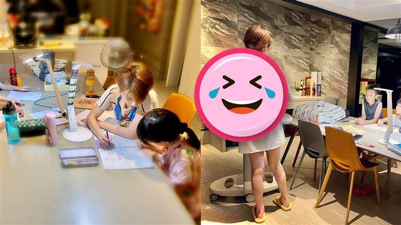 女星幫孩備課8科目 超狂教材網跪了