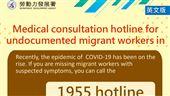 國語版宣導資訊失聯移工就醫諮詢專線