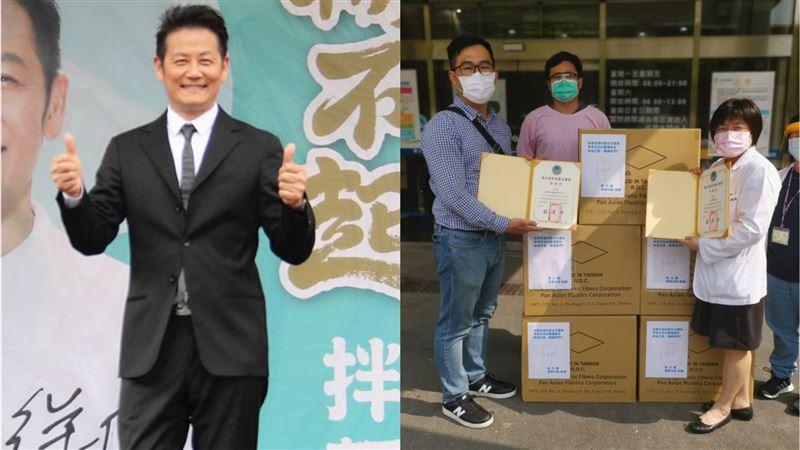 徐乃麟送暖挺醫護 捐1千個防護面罩