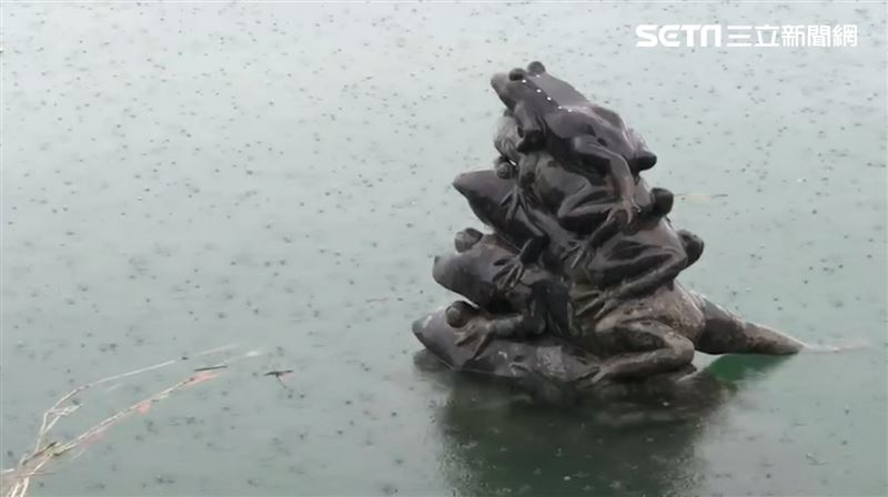 雷雨炸南投!竹山交流道淹水、日月潭9蛙吃水高度曝光