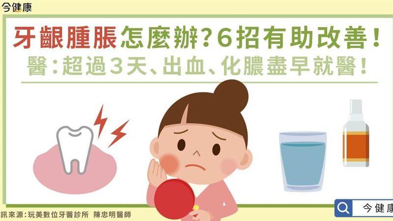 牙齦腫脹、發炎 醫生:2狀況盡早就醫別再忍!