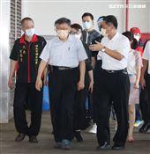 台北市長柯文哲至環南市場視察。(記者邱榮吉/攝影)