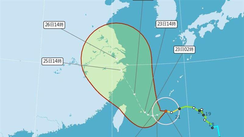 胖颱烟花逼近發布海警!周末中部以北防雨彈 風雨時程一覽