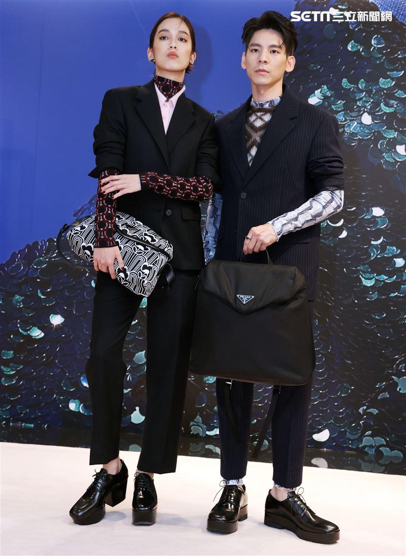 陳庭妮、林柏宏出席PRADA 2021秋冬男女裝系列媒體發表會。(記者邱榮吉/攝影)