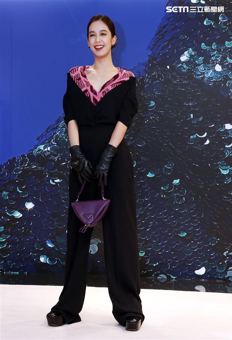 陳庭妮出席PRADA 2021秋冬男女裝系列媒體發表會。(記者邱榮吉/攝影)