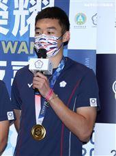 東京奧運羽球男子雙打王齊麟。(記者邱榮吉/攝影)
