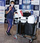 東京奧運羽球男子雙打李洋。(記者邱榮吉/攝影)