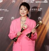 曹雅雯獲得金曲32最佳台語女歌手獎。(記者/邱榮吉/攝影)