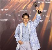 羅文裕獲得金曲32最佳客語歌手獎。(記者/邱榮吉/攝影)