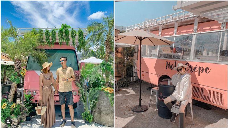 周末限定!「粉紅巴士餐車」開進宜蘭頭城