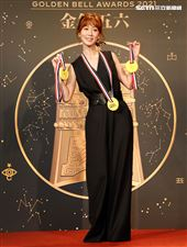 第56屆廣播金鐘獎主持人瑪麗有多次主持經驗。(記者邱榮吉/攝影)