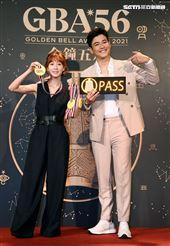 第56屆廣播金鐘獎主持人瑪麗、劉傑中公布記者會。(記者邱榮吉/攝影)