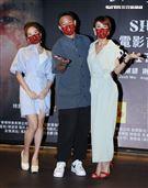 電影「影子背後」演員徐小可、阿Ben。(記者邱榮吉/攝影)