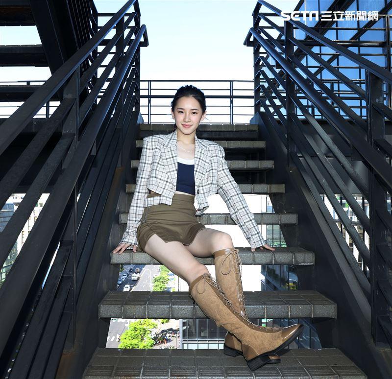 盧以恩金鐘入圍三立新聞網專訪。(記者邱榮吉/攝影)