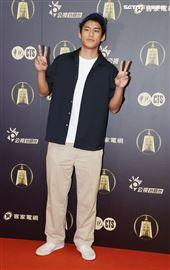 天橋上的魔術師演員朱軒洋、出席公視金鐘入圍茶會。(記者邱榮吉/攝影)