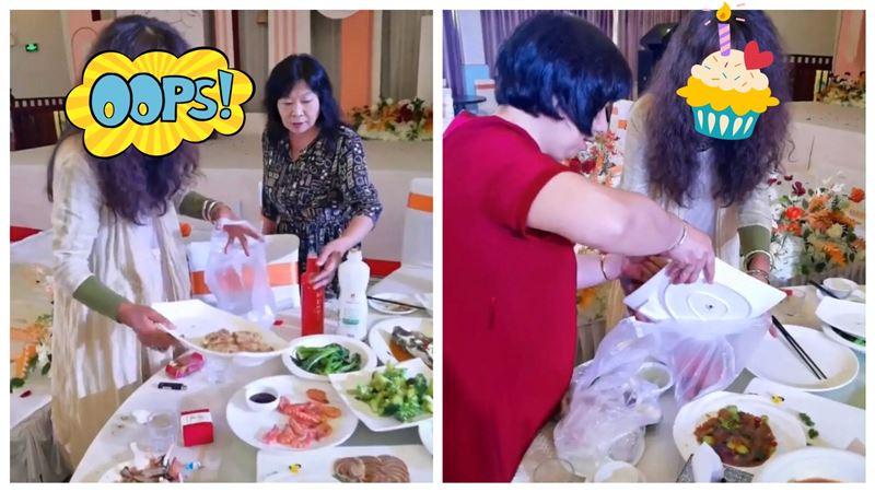 58歲女星婚宴打包剩菜 挨酸給狗吃