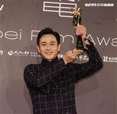 劉冠廷奪得台北電影獎最佳男配角。(記者邱榮吉/攝影)