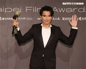 邱澤奪得台北電影獎最佳男主角。(記者邱榮吉/攝影)