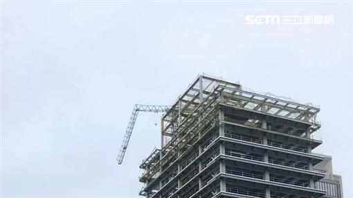 新/建案吊臂被「震彎」 建商回應了